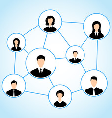 Group of business people, social relationship