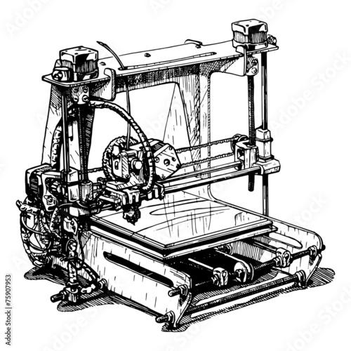 plastic 3D printer - 75907953