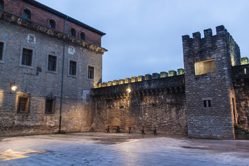Fortification walls in the old town in Vitoria