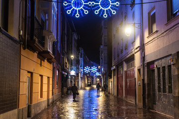 Christmas decoration in Vitoria