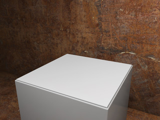 plinth with dirty background