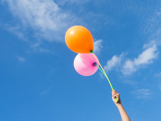Balloons in the sky