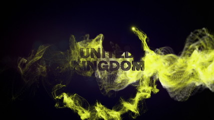 United Kingdom Gold Text and Particles, Background