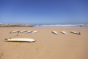 Surfboards in the sand