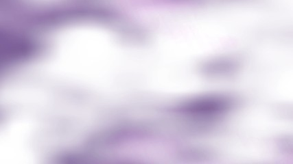 Abstract white clouds animation on the dark purple background