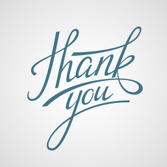 Lettering Thank you. Vector illustration