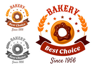 Bakery emblem with cookie
