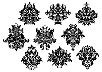 Vintage floral elements and motifs