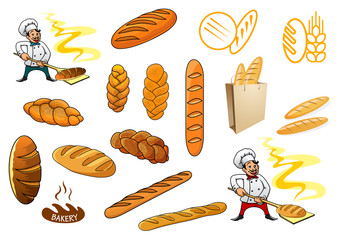 Bakers and isolated baguettes