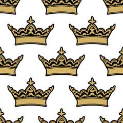 Royal heraldic seamless pattern