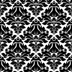 Classic damask seamless floral pattern