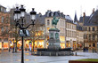 Leinwanddruck Bild - Place Guillaume II in Luxembourg city