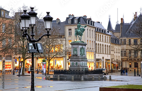Foto op Canvas Centraal Europa Place Guillaume II in Luxembourg city