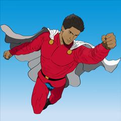 Vector hand drawn superhero