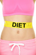 Diet and healthy eating concept - woman stomach