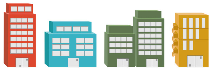 3D icon Buildings.Vector illustrations of 3D icon Buildings.