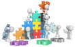 The Team.The dude x 9 building colorful puzzle from blueprint. - 75911933