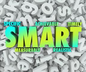 Smart Goal Criteria Objectives Specific Achievable Mission 3d Ac