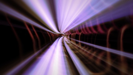 Flight in abstract tunnel