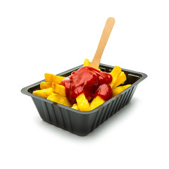 belgisch Pommes Frites mit Ketchup