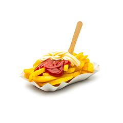 Pommes Frites mit Ketchup Mayonnaise