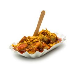 currywurst mit röstzwiebeln