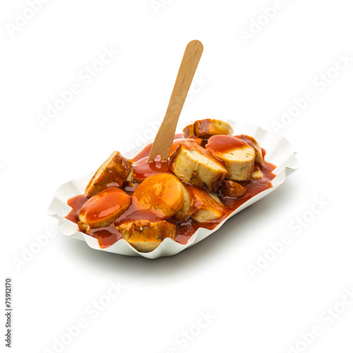 Leinwandbild Motiv Deutsche currywurst