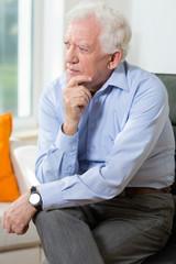 Elegant elderly man
