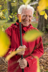 Portrait of senior gardener