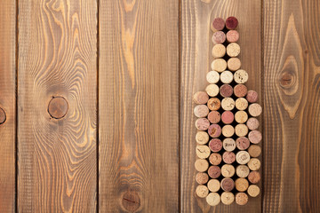 Wine bottle shaped corks