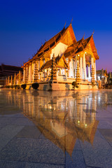 Wat Suthat Thep Wararam temple in Bangkok Thailand