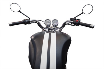 Gasoline tank and speedometer of motorcycle