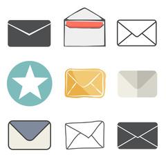 Email Message Envelope Online Media Vector Illustration Concept