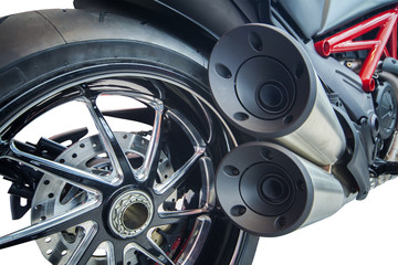 Motorcycle exhaust pipes