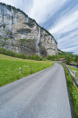 Country road in Swiss