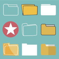 Folder Files Data Information Computer Storage Vector Concept
