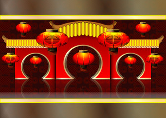vector illustration: Chinese lanterns