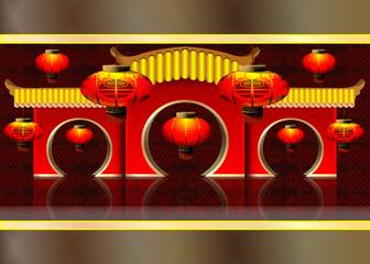 vector illustration: Chinese lanterns