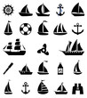 Sailboat symbol set. - 75915325
