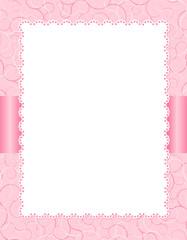 Pink invitation background