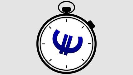 Stopwatch Euro Symbol Rotating