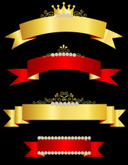 Decorative ribbon banners