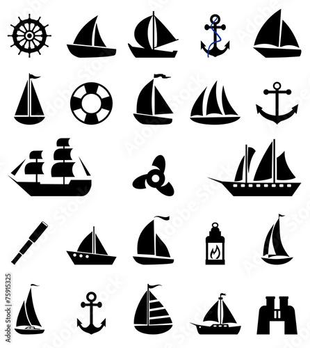 Sailboat symbol set. - 75915325