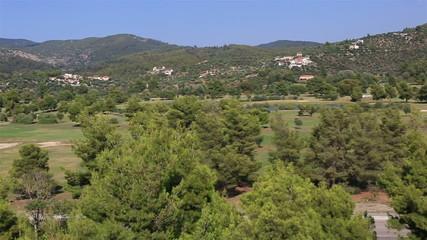 Panorama of territory Porto Carras Grand Resort.