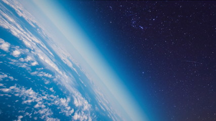 The Earth Planet In Space
