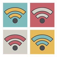 Wifi Wireless Technolgy Online Newtwork Icon Vector Concept
