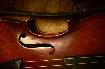 old retro violin