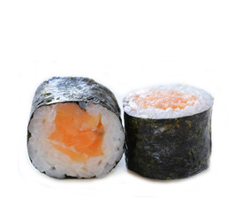 rolls sushi with salmon - traditional Japanese food