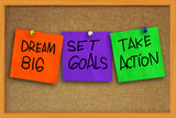 Fototapety Dream Big, Set Goals, Take Action