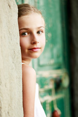 Portrait of lovely young girl